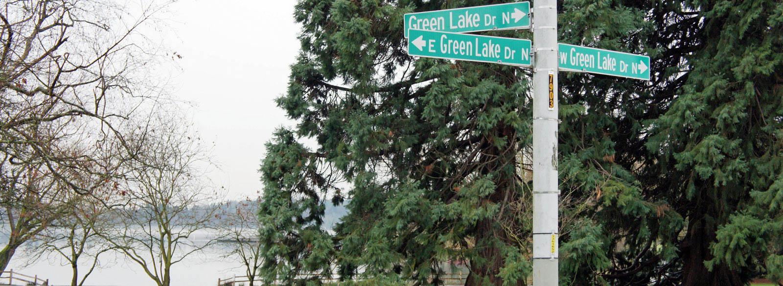 Green Lake Drive Street Sign
